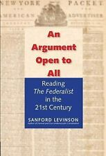 """2015-11-24, An Argument Open to All: Reading """"The Federalist"""" in the 21st Centur"""