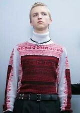 100% Original DIOR HOMME Runway Cashmere Jacquard Turtle neck Sweater knit - M