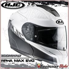 CASCO MODULARE HJC RPHA MAX EVO ZOOMWALT MC10SF CARBONIO OPACO NERO/BIANCO TG. S