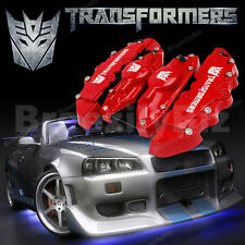 Universal Red Car Brake Caliper Cover Transformers Decepticon Style Disc Kit C25