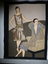 1920's Fashion Ladies Fabric Cotton Craft Panel Quilting FASHION STYLE 6