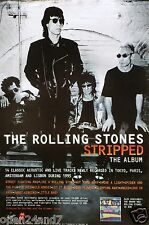 "ROLLING STONES ""STRIPPED"" U.K. PROMO POSTER WITH DIFFERENT WORDS ON THE BOTTOM"