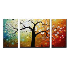 Framed Original Abstract Oil Painting on Canvas Home Decor Wall Art Lucky Tree