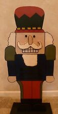 "HOLIDAY/CHRISTMAS PRIMITIVE WOOD CRAFT PATTERN-""NUTCRACKER""-28"" TALL"