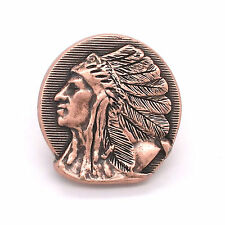 """Left Facing Chief Head Concho Antique Copper 1-1/4"""" 3665-10 by Stecksstore"""