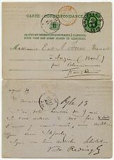 BELGIUM 1879 POSTAL STATIONERY VFU VICTOR REDING EMBOSSED