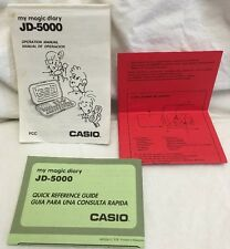 Casio My Magic Diary JD-5000 Operation Manual & Quick Reference Guide ONLY