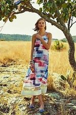 NEW Anthropologie Sonora Dress by Sachin + Babi Multicolor Cut Sketchy Graphic M