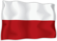 sticker stickers decal vinyl decals national flag car POLAND polska polish