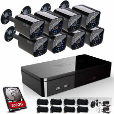 ELEC 8CH 1080P HDMI DVR 1500TVL CCTV 960H Home Security Camera System 500GB