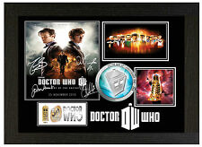 DR WHO 50th ANNIVERSARY - A3 SIGNED FRAMED COLLECTORS PICTURE