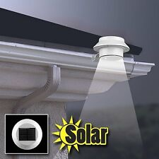 Solar Powered Outdoor 3LED Garden Yard Wall Fence Pathway Yard Lamp Gutter Light