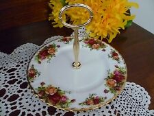 ESTATE  ORIGINAL ROYAL ALBERT OLD COUNTRY ROSES SINGLE TIER CAKE STAND AS NEW