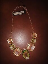 ANN TAYLOR CRYSTAL STATEMENT NECKLACE - NEW