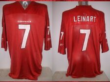 Arizona Cardinals 7 LEINART Adult 2XL Shirt Jersey Reebok NFL Football USA Top