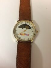 Women's Moon Phase Watch with Genuine Pigskin Band 18mm