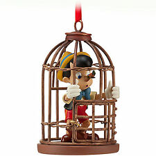DISNEY PINOCCHIO in a Bird Cage Sketchbook Christmas Ornament NEW IN BOX 2012