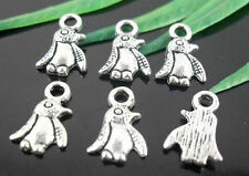 Free Ship 120Pcs Tibetan Silver Penguin Charms 11x7mm
