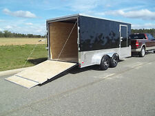 7x16 double motorcycle enclosed trailer cargo ATP sport motorcycle package NEW