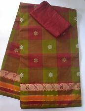 South Cotton pure handloom saree - Mystical Checks