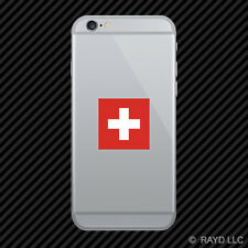 Swiss Flag Cell Phone Sticker Mobile Switzerland CHE CH