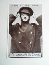 Rare Vintage Repro Postcard THE MILITARY MISS TO CAPTIVATE THE ENEMY