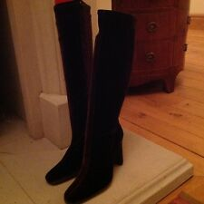 brown manmade velvet look boots new size 5