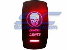 UTV RV Skull Zombie Lights Rocker Switch Red Led On Off Toggle Square Dune Sand