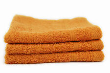 100% EGYPTIAN COTTON 12 X ORANGE FACE TOWELS FLANNELS 550 GSM - BRAND NEW