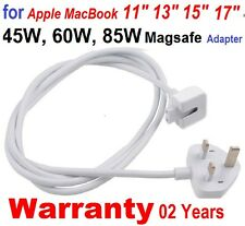 White Original UK AC Power Adapter Cord Extension Cable for Apple Macbook Pro UK