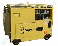 Sigma 7000 Watt Silent Diesel Generator Electric Start In Stock Miami