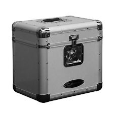 "Odyssey KLP2-SILVER 70 12"" LP Vinyl Records Stacking Utility Krom Transport Case"
