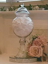 Tall Glass Apothecary Jar Candy Buffet Wedding Shabby Chic Vintage American Rare