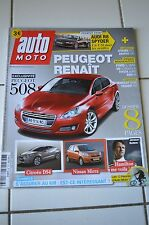 AUTO MOTO N°176 2010 // AUDI R8 SPYDER PEUGEOT 508 DS3 ABARTH 500 FORD S-MAX