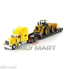 1/87 Norscot Peterbilt 389 Tractor Diecast Model Truck CAT 950F Wheel Loader