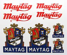 MAYTAG CREST vintage style Washing Machine 1930's/40's stickers decals
