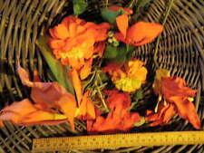 Vintage Millinery Flower Orange Hat Trim Wholesale Lot Bespoke Wedding H38