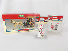 Lemax Village Collection Bakers Wagon w/ Mister Snowman & Skating Duo Figures