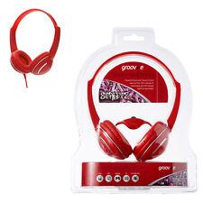 Groov-e gv897/rd Streetz de moda Auriculares Control De Volumen Color Rojo
