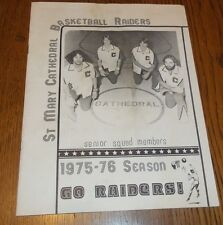 Vintage St. Mary Cathedral Basketball Raiders High School Saginaw MI 1975-1976