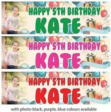 PERSONALISED BIRTHDAY BANNER BALLOON 1st 18th 21st 30th 40th-any name age S e34