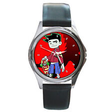 Skate Board Red Dragon Jake Long Ultimate Leather wrist watch
