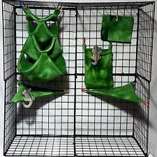 Green tie dye  * 6 piece Hideout hammock set  * Rat * double layer Fleece