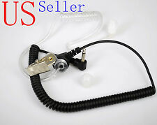 3.5mm Listen Only Acoustic Tube Earpiece/Headset coiled cord 1PIN