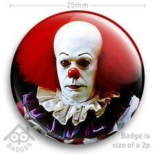 """Pennywise The Clown - IT - Tim Curry - Stephen King - Horror - 25mm 1"""" Badge"""