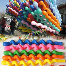 100 pcs Mixed Spiral Latex Balloons Wedding Kids Birthday Party Decor