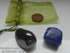 Back Ache Pain Blend Tumblestone Stone Gift Set ~ Gemstone Crystal Healing