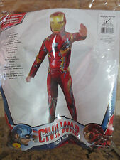 NEW Marvel Captain America Civil War Ironman 2 Piece Kid Costume- Size M 8-10