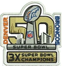3X SUPER BOWL CHAMPION DENVER BRONCOS PATCH SUPER BOWL 50 CHAMPION PATCH LIMITED