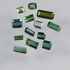 9.9 cts blue green tourmaline mixed facted cut lot afghanistan